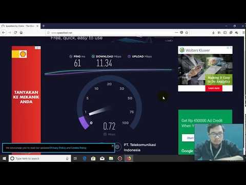 Testing Indihome Gamer 10 mbps