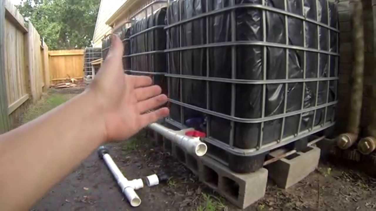 Description rainwater harvesting system jpg - Step 5 Ibc Rainwater Harvesting System Connecting And Venting Tanks