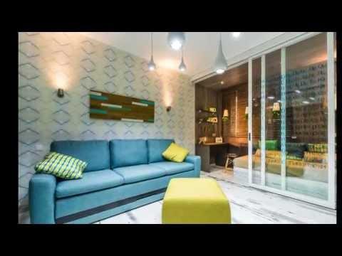 Интерьер комнаты совмещенной с кухней фото