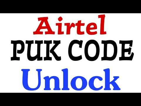 Airtel Puk Code Unlock