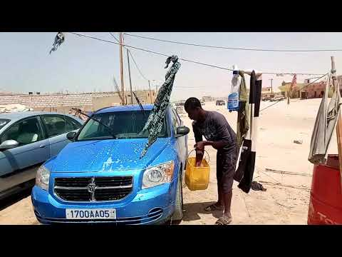 Car wash in Africa Nouakchott Mauritania 2017