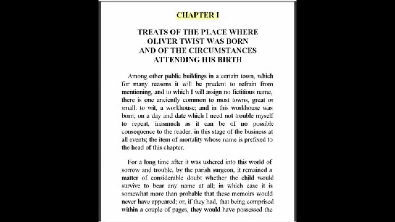 oliver twist by charles dickens chapter 1 for english grammar oliver twist by charles dickens chapter 1 for english grammar club