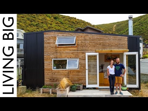 Super Cool DIY Tiny House With HUGE Movie Theatre Loft