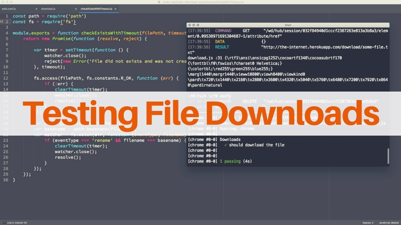 Testing File Download Functionality - WebdriverIO Wednesdays