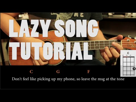 Bruno Mars The Lazy Song Ukulele Tutorial Fcil Youtube