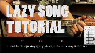 Bruno Mars - The Lazy Song UKULELE Tutorial ( Fácil )