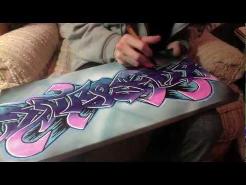 """""""JIYOUNG"""" Graffiti Canvas"""