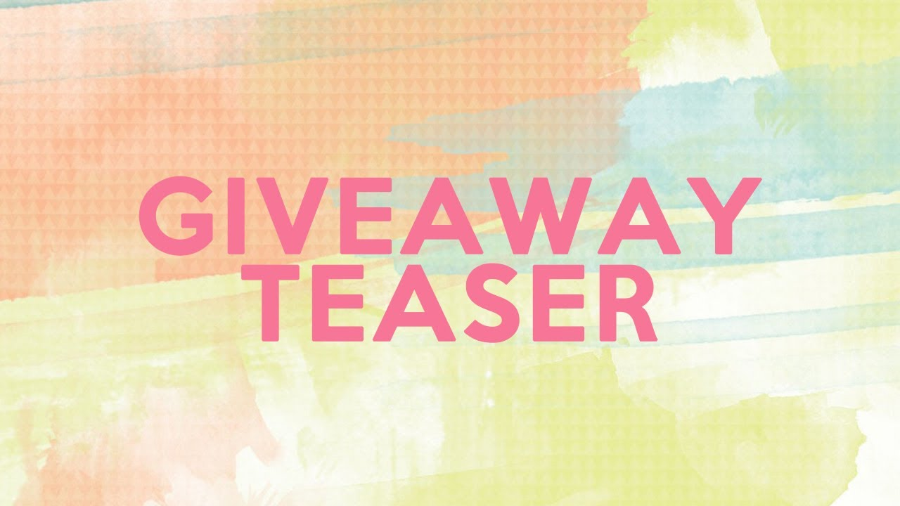 Giveaway Teaser (Giveaway Announcement)