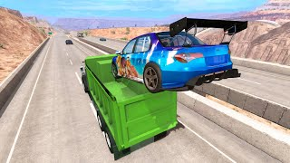 High Speed Jumps - Destroying the Cars #4 (BeamNG Drive Crashes)