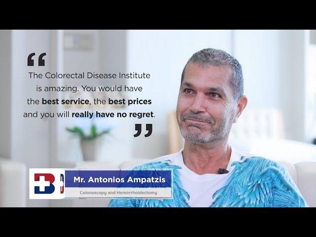 Patient Testimonials | Mr.Antonios Ampatzis - Colonoscopy and Hemorrhoidectomy