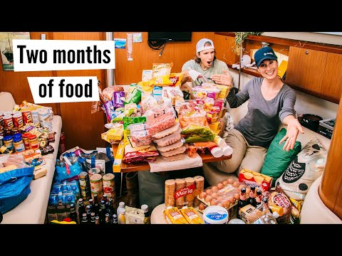 Provisioning For The Atlantic Crossing + TIPS For Shopping And Storage. #59