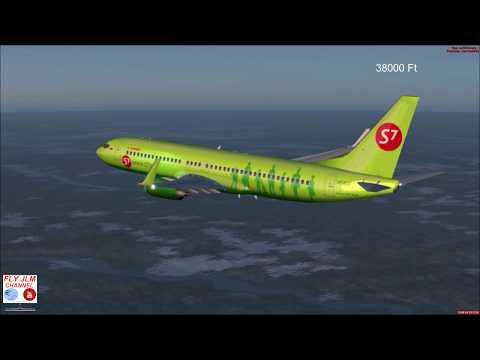 FSX Full flight from Yakutsk to Irkutsk with Boeing 737 Siberia 7