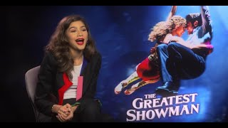 Zendaya on The Greatest Showman and kissing Zac Efron