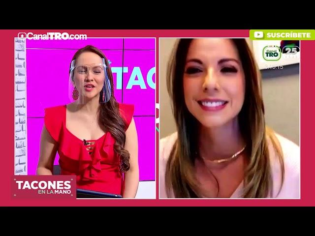 La presentadora Johana Amaya estuvo en el tocador de Tacones en la Mano