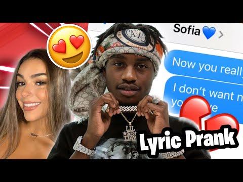 "Lil Tjay – ""None Of Your Love"" | LYRIC PRANK ON MY CRUSH 😍 **GOT FREAKY**"