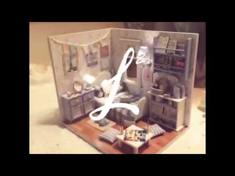 DIY Doll House Miniature with Furnitures Wooden Toys For Children Handmade Crafts