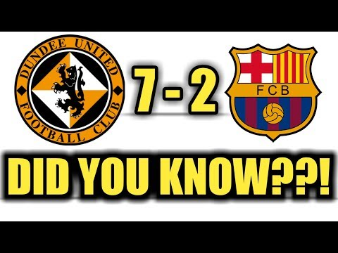 Did You Know??! ▪ Barcelona Has Never Beaten Dundee United ▪ Amazing Football Facts 2017