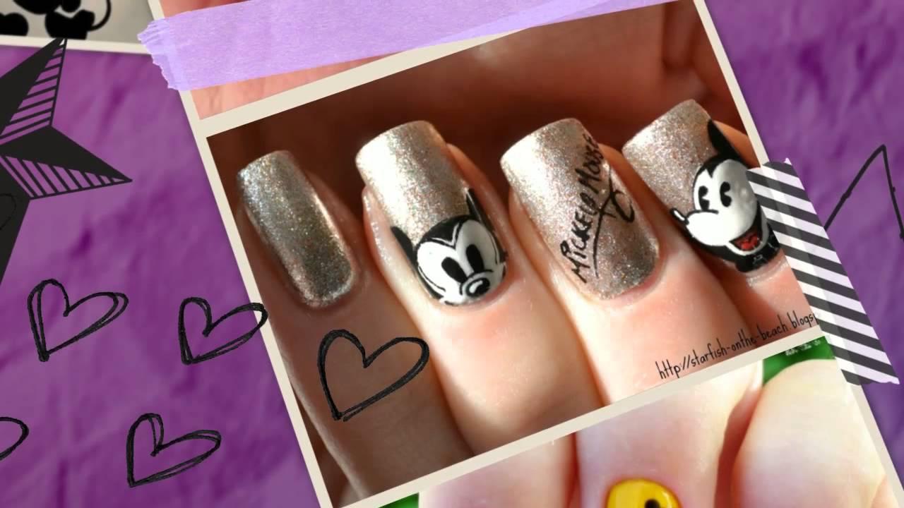 Diseños de Uñas de Mickey Mouse 2014 - YouTube