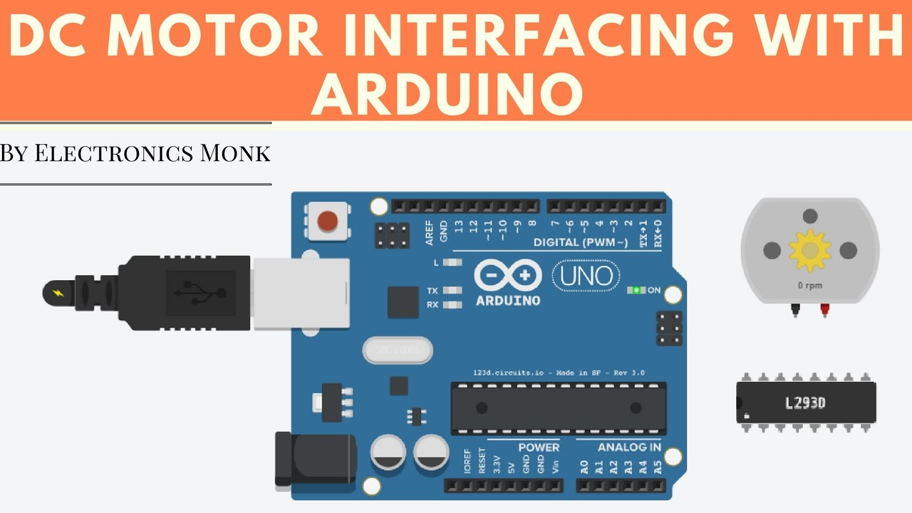 Dc motor interfacing with arduino uno
