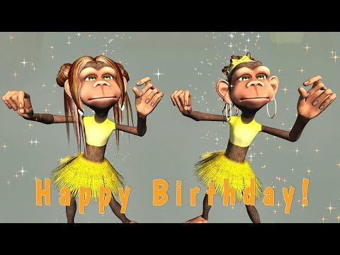 Funny Happy Birthday Song. Monkeys... Free Funny Birthday Wishes ECards |  123 Greetings