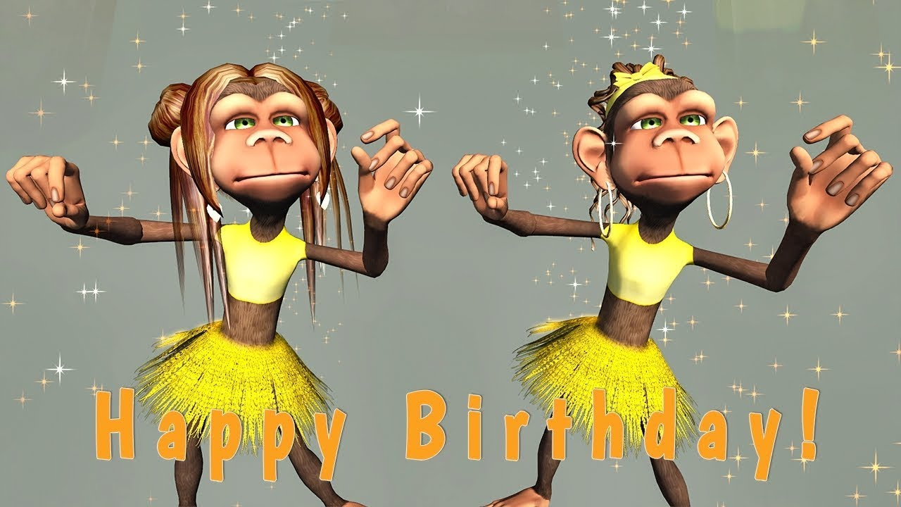 Funny Happy Birthday Song Monkeys Sing Happy Birthday Youtube