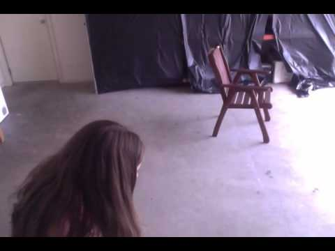Girl Getting Hit With A Drill