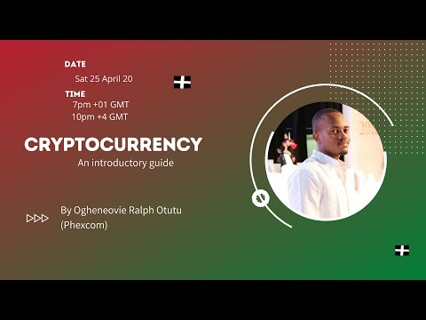 Cryptocurrency (An Introductory Guide) Zoom Webinar