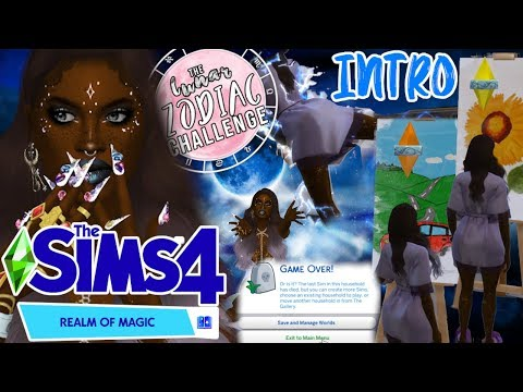 Sims 4: Realm Of Magic🔮Lunar Zodiac Challenge🌙#1✨Electrocuted?!!!