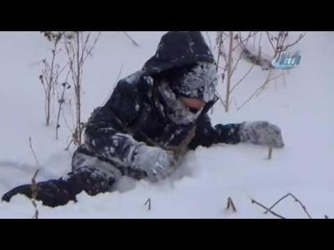 Kars'ta kar yağışı ve tipi, hayatı olumsuz etkiledi