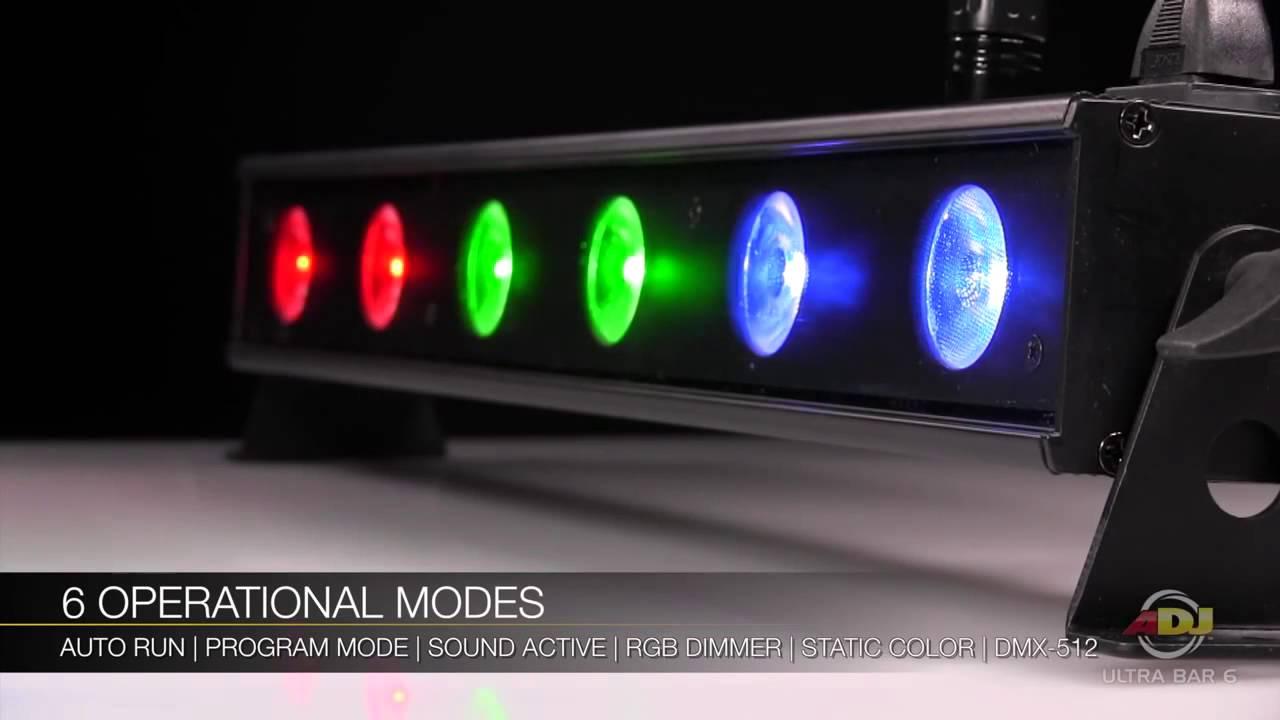 american dj adj ultra bar 6 led up light youtube