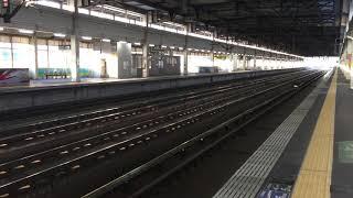 2018/11/30 JR一ノ関駅新幹線ホーム E7系F20編成試運転@仙台方面行 12両編成 北上試運転? 15時23分頃通過
