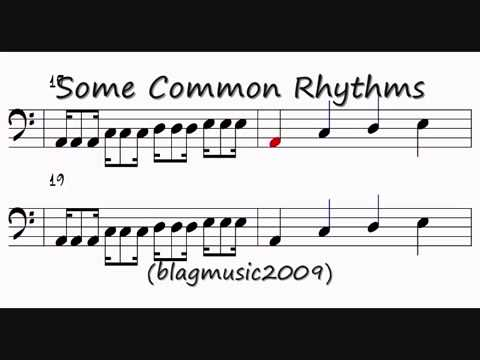 Music Theory - Reading Rhythm Notation (Bass Clef)