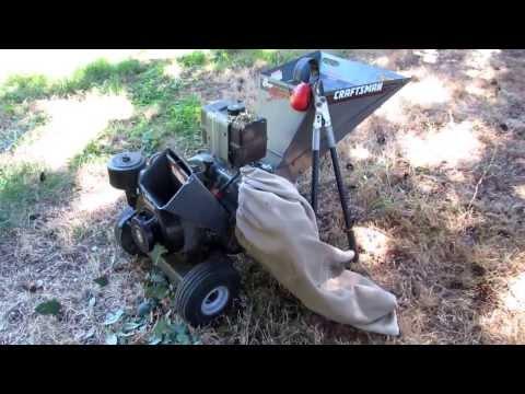 Craftsman Chipper Shredder 8 Hp Briggs Stratton Video