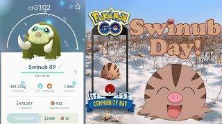 Swinub Community Day Shiny Hunting - Pokemon Go!
