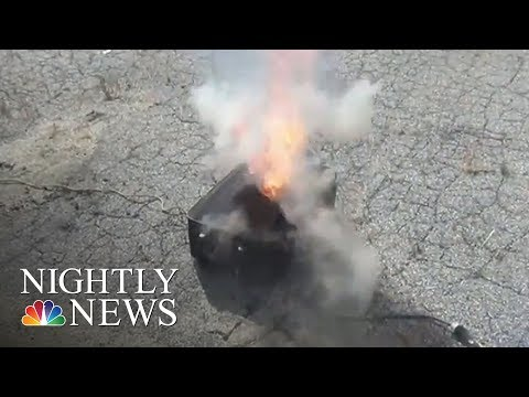 FAA: Lithium Batteries In Laptops Pose Serious Air Travel Risks | NBC Nightly News