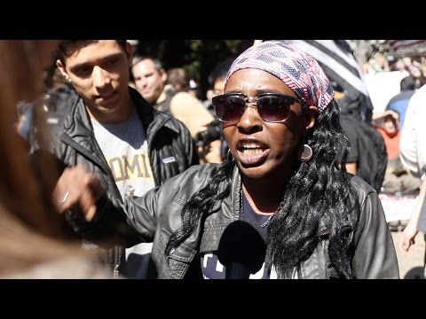 RAW: Black female Trump supporter blasts Berkeley Antifa