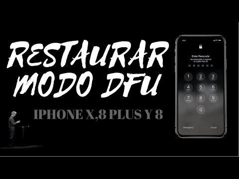 COMO RESTAURAR IPHONE X MODO DFU 8 PLUS Y 8
