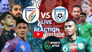 India Vs Bangladesh Live Match Reaction⚽ Live Score With Rahim Nabi || Ranjan Bhattacherjee ⚽⚽⚽