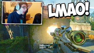 FAN HITS THE WINDOW SHOT ON ME! ft. Formula (BO2 Trickshotting)