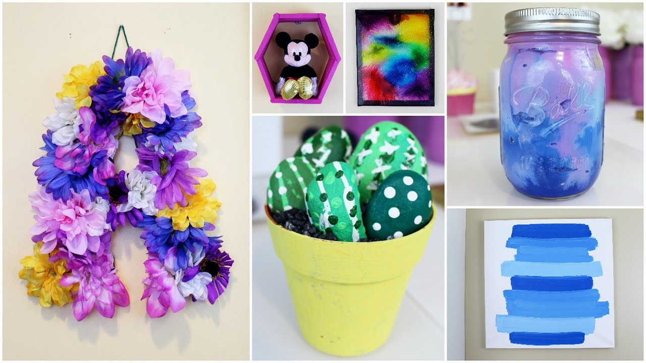 6 cheap easy diy summer room decor ideas pinterest inspired youtube Diy home decor crafts pinterest