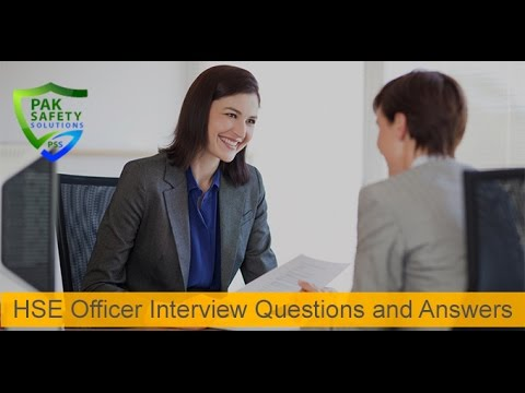 HSE Officer Interview Questions and Answers - Part 1