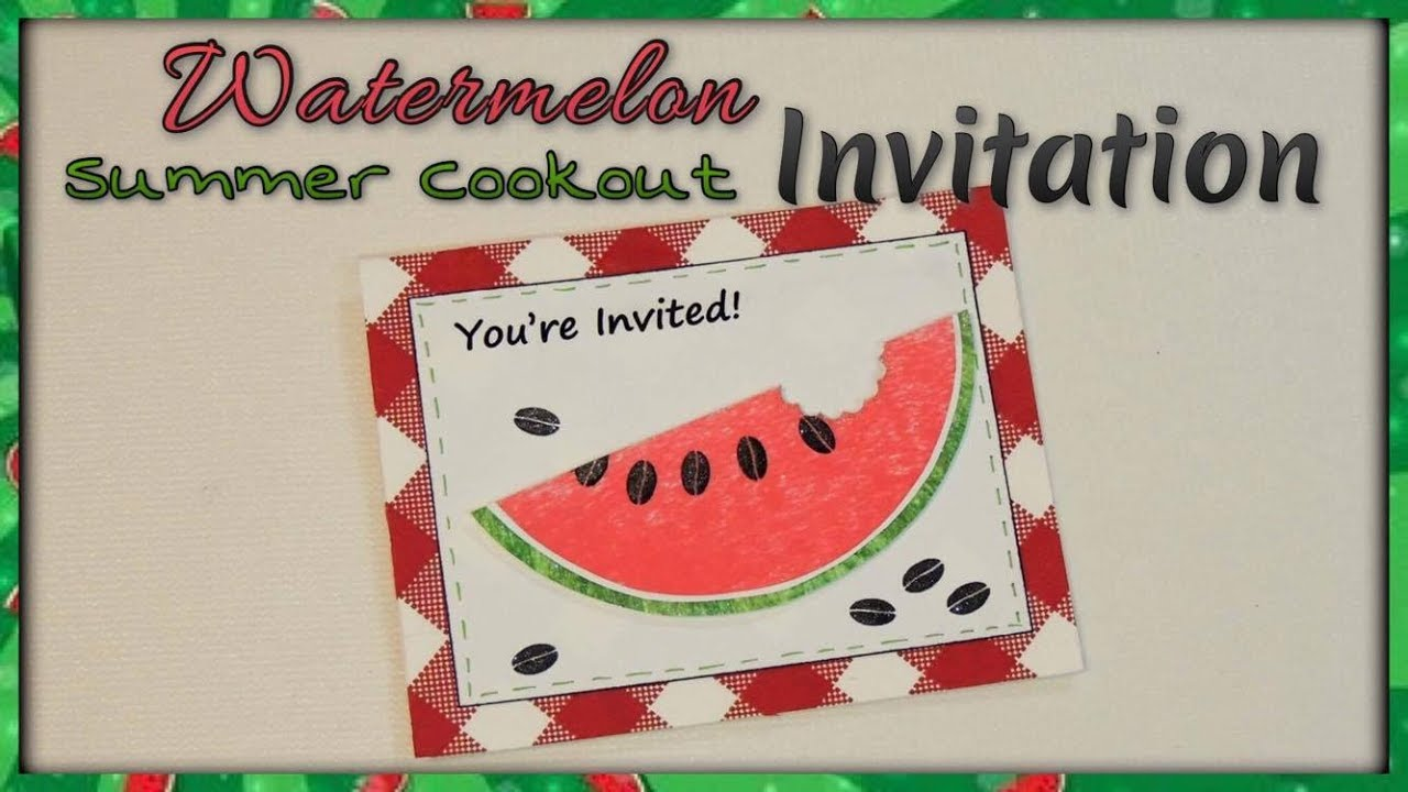 watermelon summer cookout invitation youtube