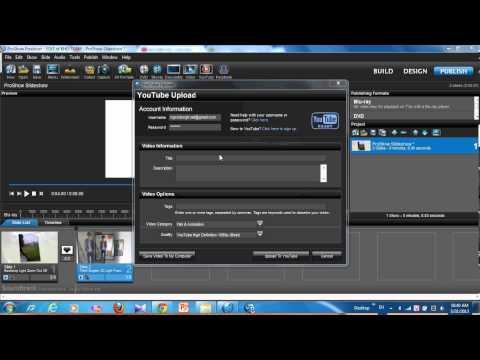 hướng dẫn upload video chất lượng cao lên youtube bằng phần mềm proshow producer