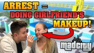 🔴 DOING GIRLFRIENDS MAKEUP When You ARREST ME on MAD CITY/JAILBREAK | FREE ROBUX GIVEAWAY | ROBLOX