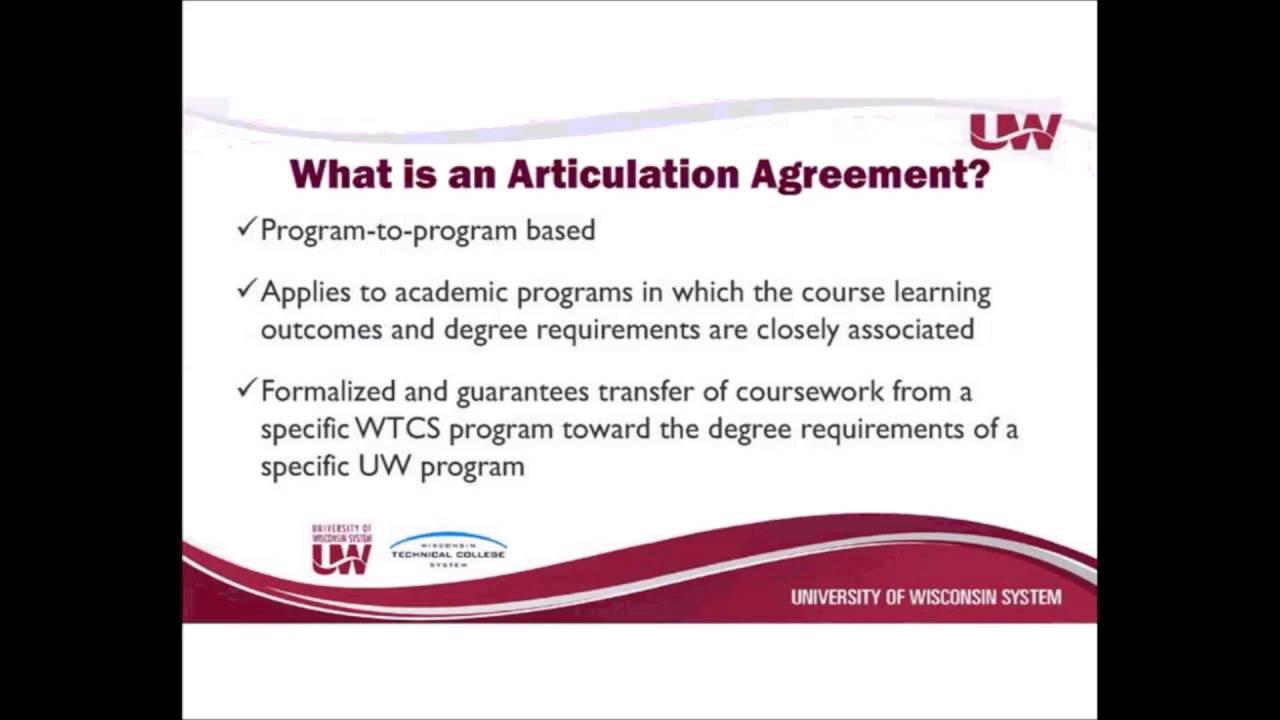 Articulation Agreement Webinar 41416 Youtube
