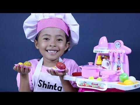 mainan anak perempuan masak masakan - kitchen play set, cooking toys for kids