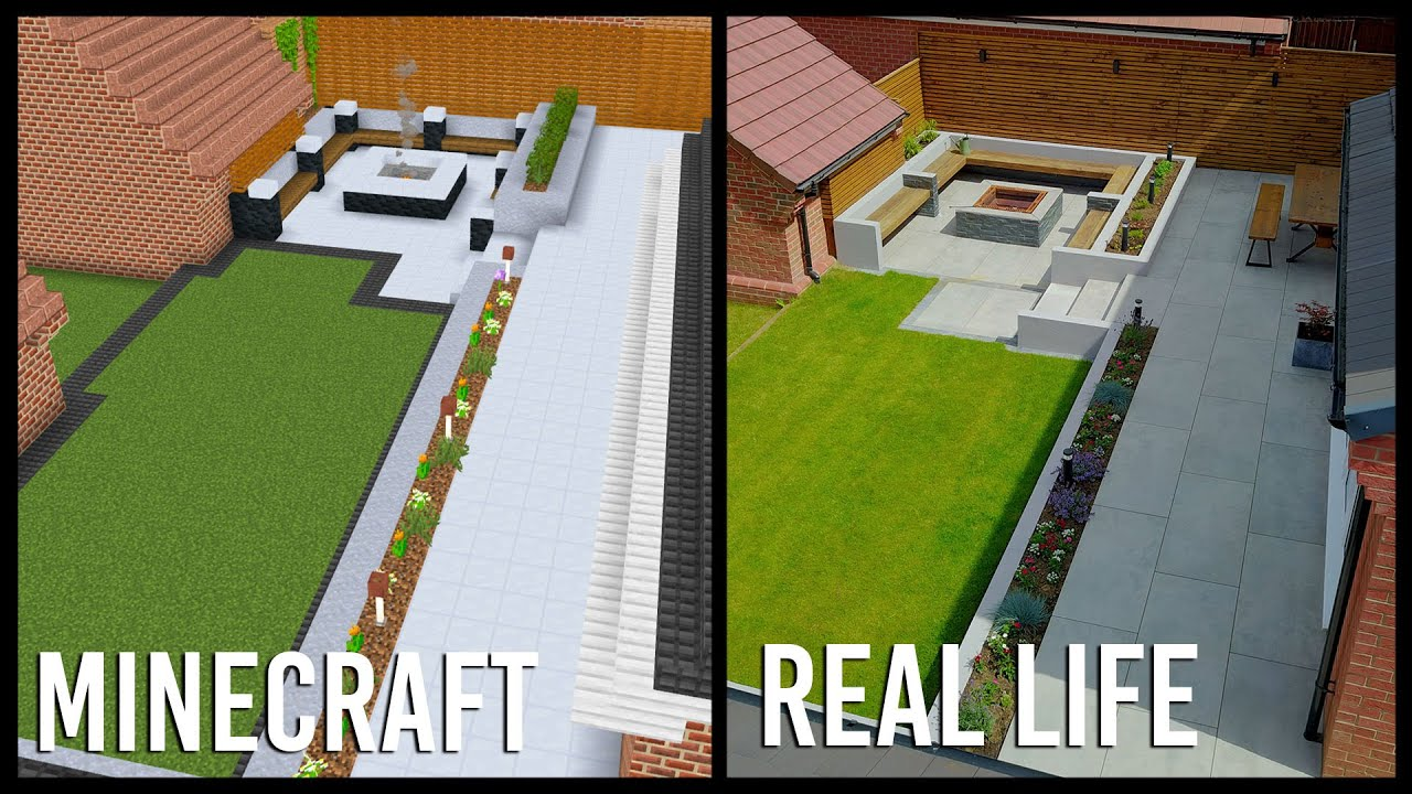 I used Minecraft to design my Real Life Garden thumbnail