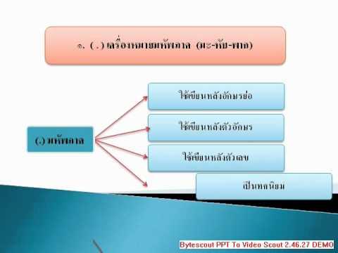 วรรคตอนไทย 1.wmv บทเรียนสำเร็จรูป