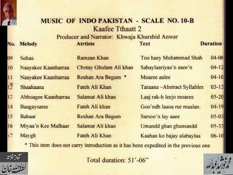 "Music of Indo Pakistan "" Kaafee Tthaaath"" (Part 2) Archives Lutfullah Khan"