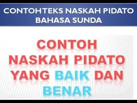 Contoh Teks Naskah Pidato Bahasa Sunda Tentang Pendidikan Dan